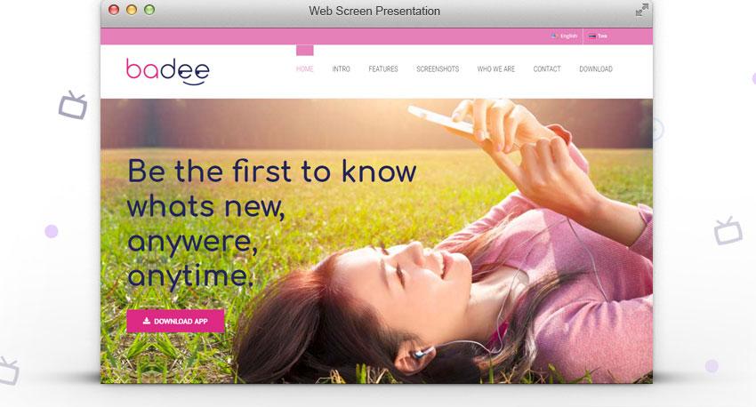עיצוב אתר, דף הבית באדי