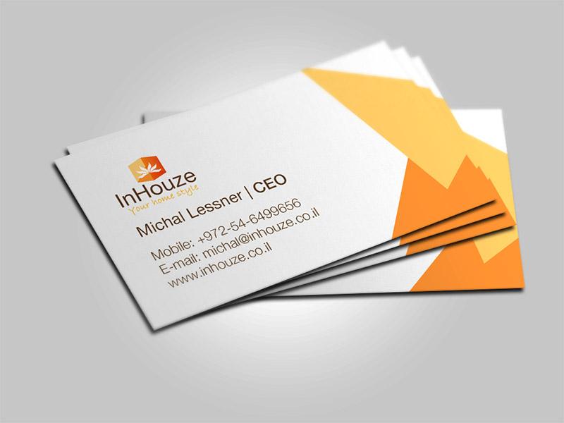 עיצוב כרטיס ביקור אינהאוז