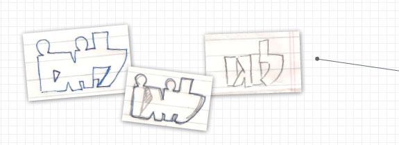 עיצוב לוגו סקיצות ידניות