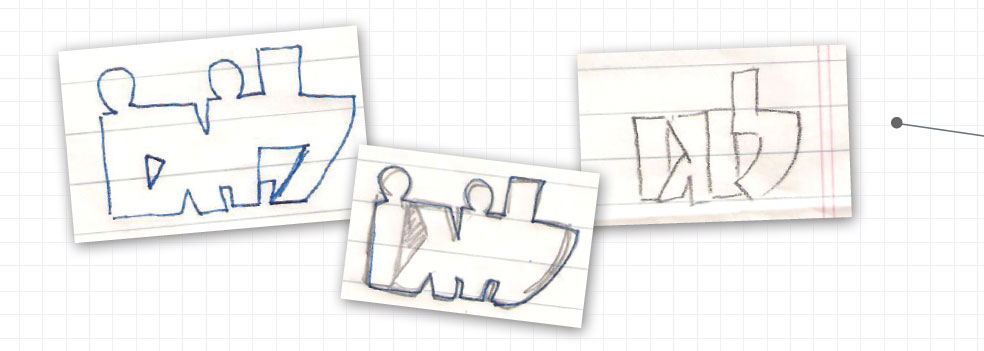 יצירת לוגו שלב השירבוט