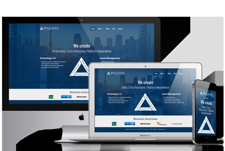 עיצוב אתר לחברת סטראט-אפ