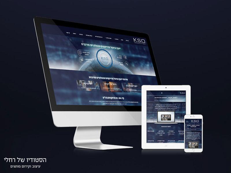 עיצוב אתר תדמית ניהול פרוייקטים