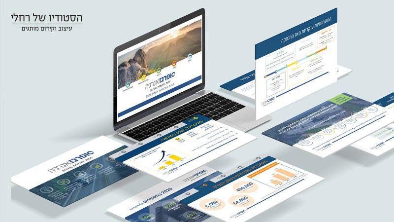 עיצוב מצגת חברה לשוק ההון - הסטודיו של רחלי