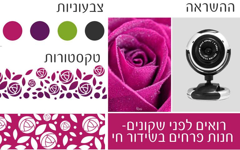 ההשראה מאחורי עיצוב הלוגו טיז פרחים